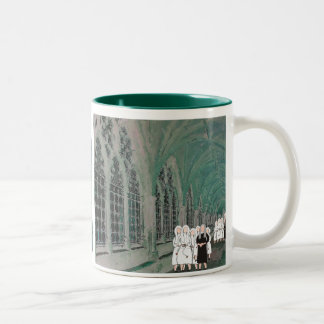 Nuns in the Westminster Abbey Cloister Two-Tone Coffee Mug
