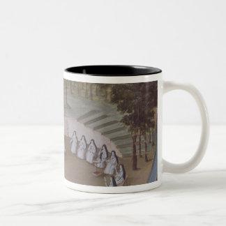 Nuns Meeting in Solitude Two-Tone Coffee Mug