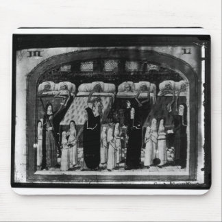 Nuns tending the sick at the Hotel Dieu Mouse Pad