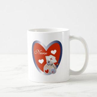 Nurse Bear with Heart Coffee Mug