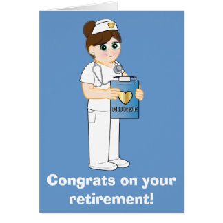 Nurse: Congratulations on Your Retirement Greeting Card