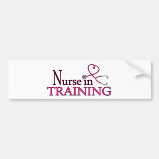 Nurse in Training - Pink Bumper Sticker