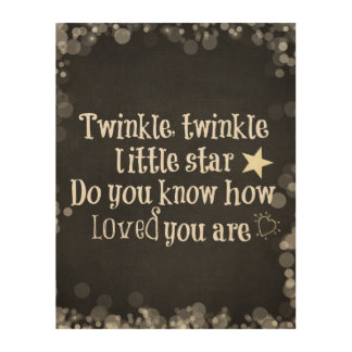 Nursery Baby Quote: Love Wood Print