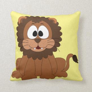 Nursery cute lion illustration with custom backgro cushion