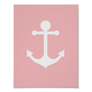 Nursery girl anchor illustration art poster