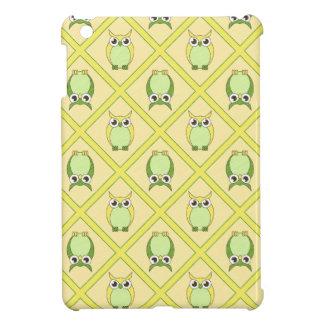 Nursery Owls iPad Mini Case - Green & Yellow