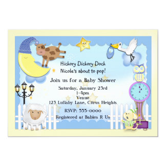 Nursery Rhyme Baby Shower Invitations & Announcements ...