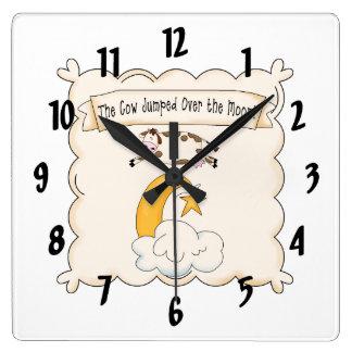 Nursery Rhymes Cow & Moon Kids Clock