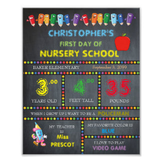 Nursery School Sign Boy,low price,Chalkboard,8x10 Art Photo
