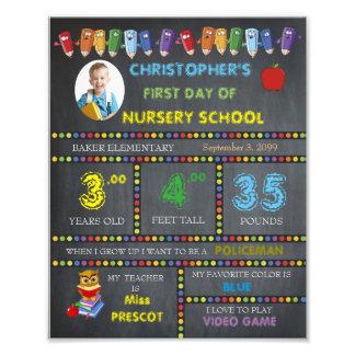 Nursery School Sign Boy,low price,PHOTO,8x10 Photographic Print