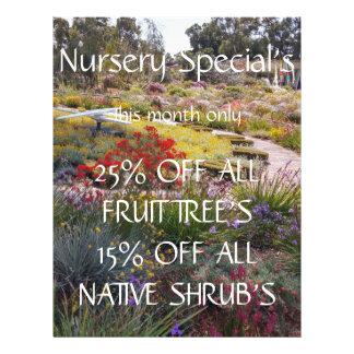 Nursery Specials bright front & back Flyer