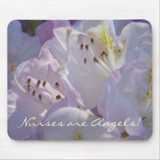 Nurses are Angels! gifts Floral mouse pad Nursing