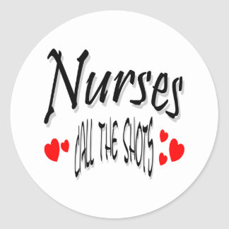 Nurses call the shots round sticker