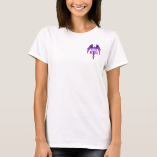 Nurses Earn Their Wings Caduceus Purple T-Shirt