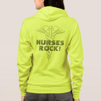 Nurses Rock | neon yellow hoodie