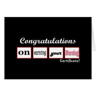 Nursing Certificate CUSTOM NAME Congratulations - Card