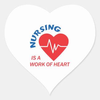 NURSING IS HEART STICKER