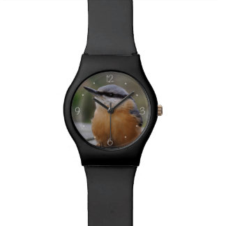 Nuthatch photo wrist watches