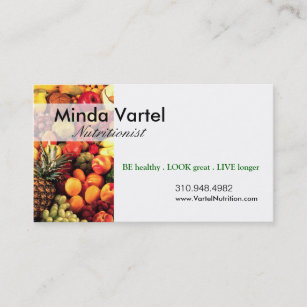 Weight loss business cards zazzle nz nutritionist food coach healthy weight loss business card colourmoves