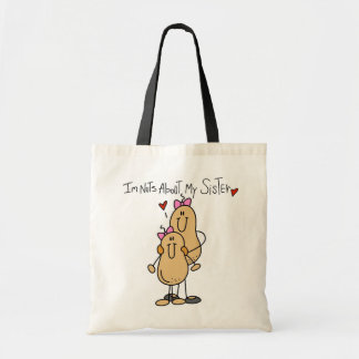 Nuts About My Sister T-shirts and Gifts Tote Bag