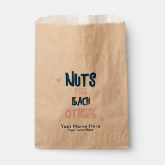 Nuts for Each Other Wedding Favor Bags Favour Bags