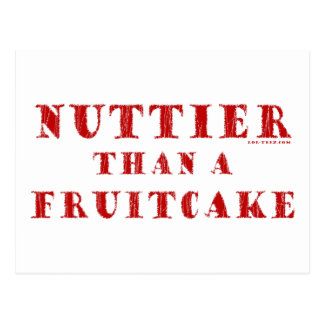 Nuttier Than a Fruitcake Postcard