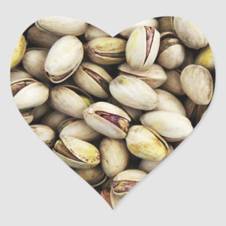 Nutty Pistachio Pile Heart Sticker