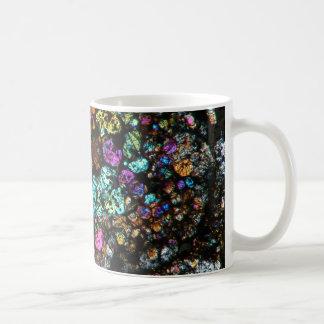 NWA Meteorite Thin Section Coffee Cup 03 Basic White Mug