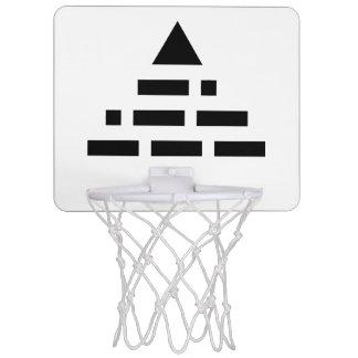 NWO pyramid NWO pyramid (morse code) Mini Basketball Hoop