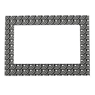 NY Art Deco Metropolitan Modern Black and White Photo Frame Magnets