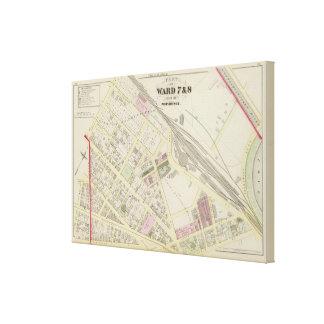 NY Boston & Providence Rail Road Map Canvas Print