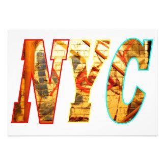 NYC and a Graffiti wall in Brooklyn New York City Custom Announcements