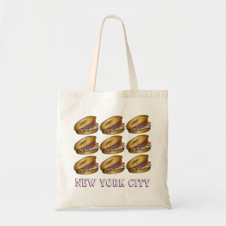 NYC Bagel Lox Cream Cheese Capers New York Tote
