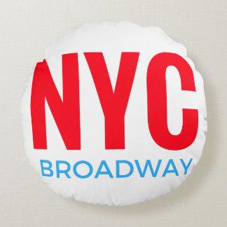 NYC Broadway Round Cushion