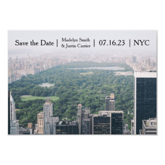 NYC Central Park Photo - 3x5 Save the Date Card
