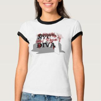 NYC Evil Regal Diva Ringer Shirt - Dana Edition