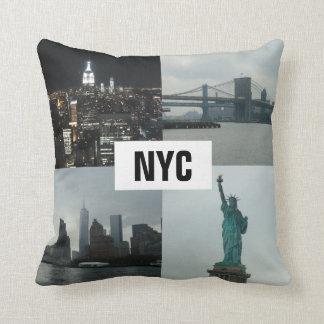NYC Manhattan Landscape Montage Cushion