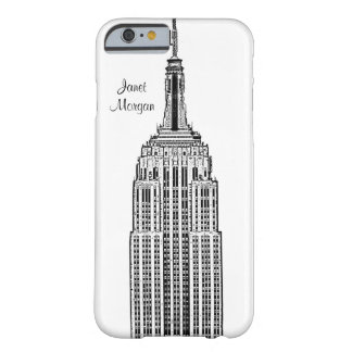NYC Skyline - Empire State Building Etched look Barely There iPhone 6 Case