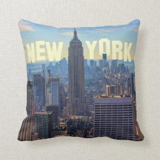 NYC Skyline Empire State Building, World Trade 2C Cushion