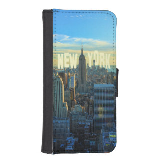 NYC Skyline Empire State Building, World Trade 2C iPhone SE/5/5s Wallet Case