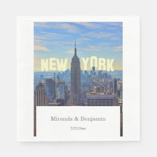 NYC Skyline Empire State Building World Trade 2C L Paper Napkin
