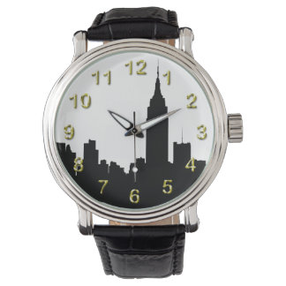 NYC Skyline Silhouette, Empire State Bldg Watch