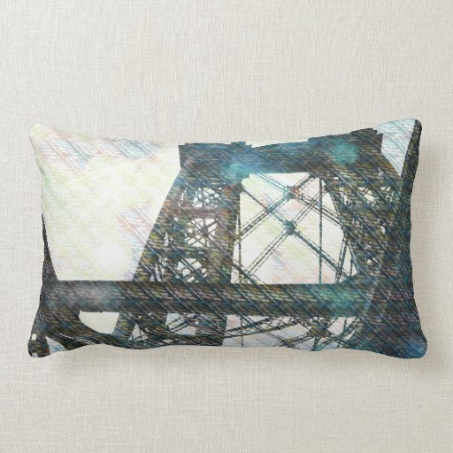 NYC Williamsburg Bridge patternized Throw Pillow