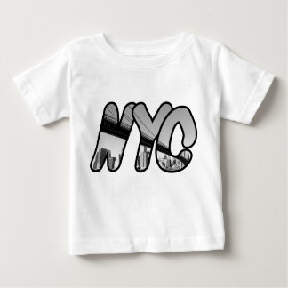 NYC with Brooklyn Bridge At Night Baby T-Shirt