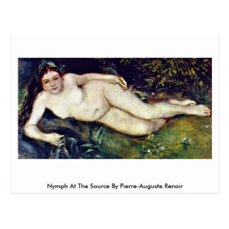Nymph At The Source By Pierre-Auguste Renoir Postcard