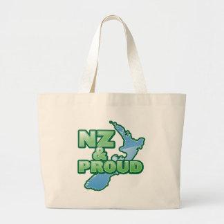 NZ and PROUD KIWI New Zealand Jumbo Tote Bag