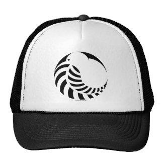 NZ Kiwi Silver Fern Emblem Mesh Hats