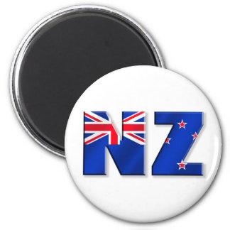 NZ logo flag of New Zealand 6 Cm Round Magnet