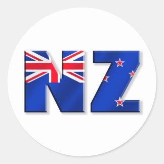 NZ logo flag of New Zealand Round Sticker