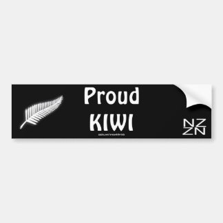 NZ Silver Fern National Emblem Patriotic Gift Bumper Sticker